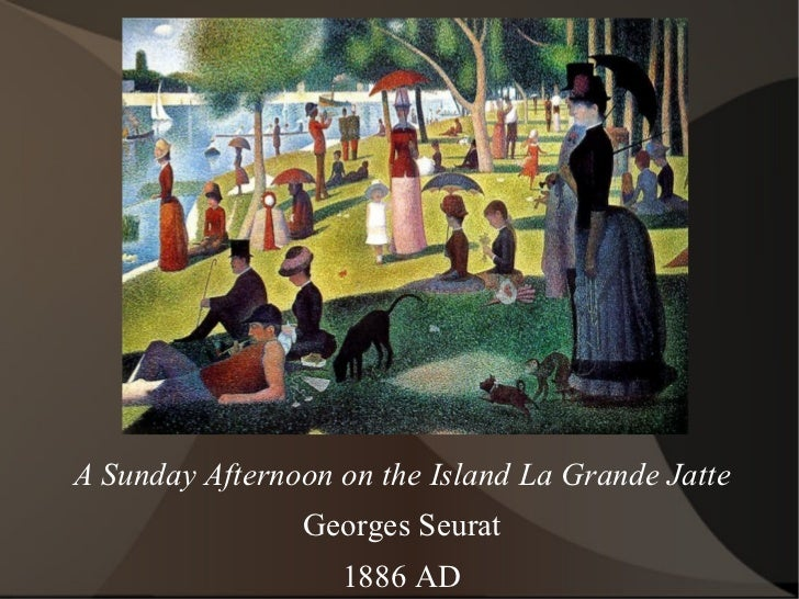 A Sunday Afternoon on the Island La Grande Jatte Georges Seurat 1886 AD