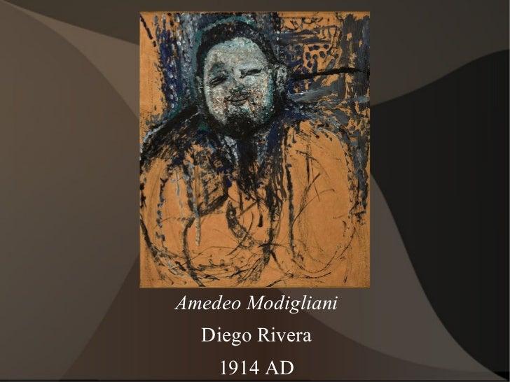 Amedeo Modigliani Diego Rivera 1914 AD