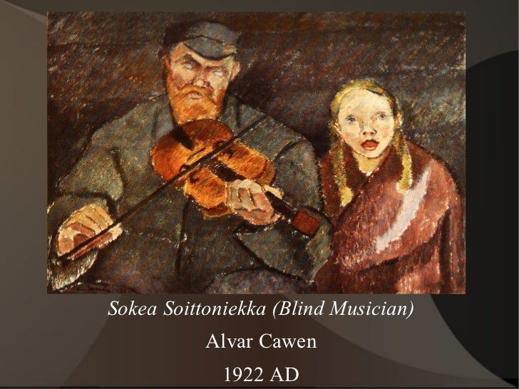 Sokea Soittoniekka (Blind Musician) Alvar Cawen 1922 AD