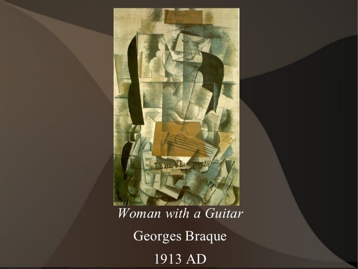 Woman with a Guitar Georges Braque 1913 AD