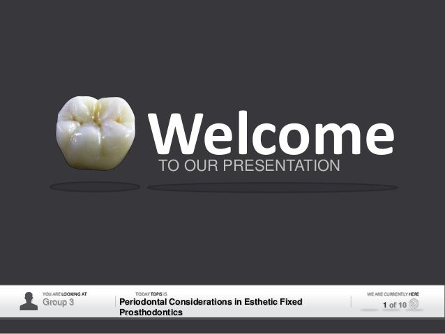 Welcome                                  TO OUR PRESENTATIONYOU ARE LOOKING AT      TODAY TOPIS IS                        ...