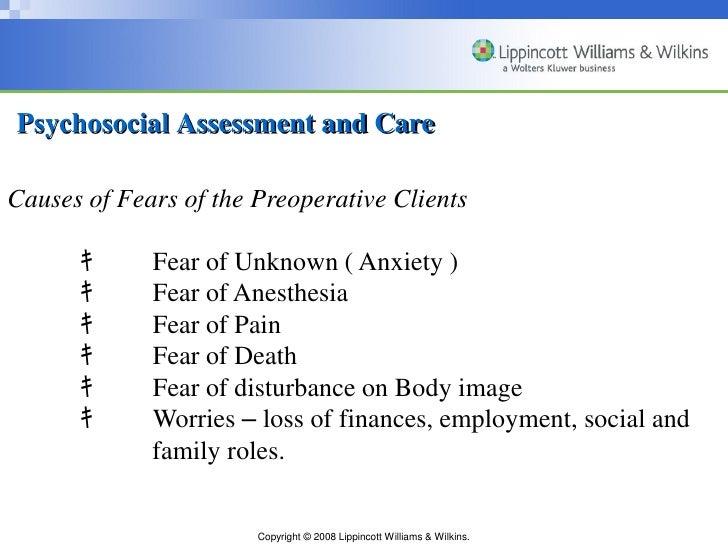 psychosocial assessment nursing Perioperative Nursing (complete)