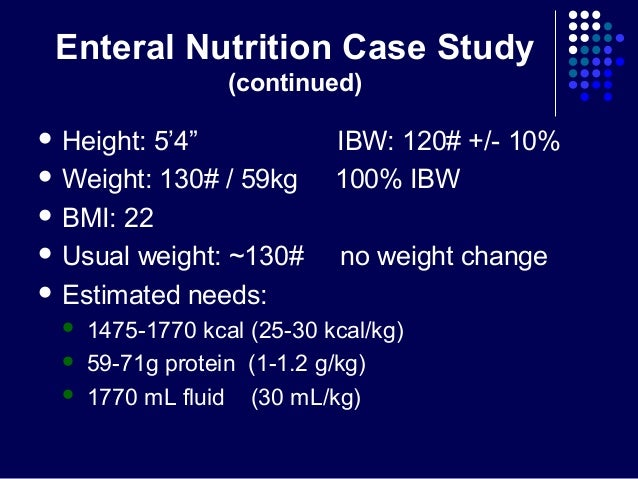 nutrition case study Getting the balance right: everyday examples this page looks at case studies of people with you can find information here about why good nutrition and.