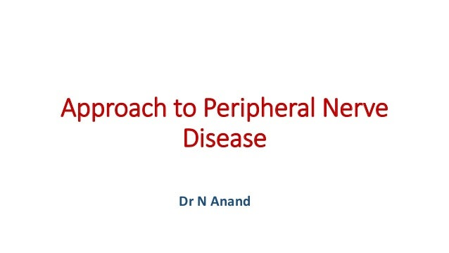 Approach to Peripheral Nerve Disease Dr N Anand