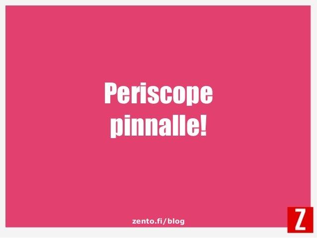 zento.fi/blog Periscope pinnalle!