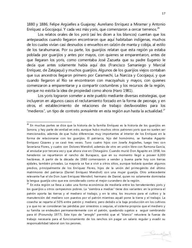 17 1880 y 1886; Felipe Argüelles a Guajaray; Aureliano Enríquez a Miramar y Antonio Enríquez a Gocojaqui. Y cada vez más y...