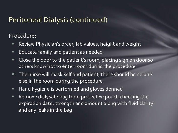 Peritoneal dialysis   Slide 3