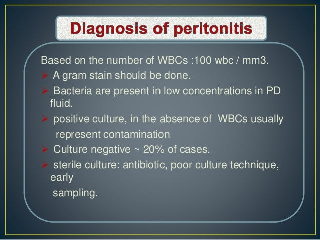 Based on the number of WBCs :100 wbc / mm3.  A gram stain should be done.  Bacteria are present in low concentrations in...