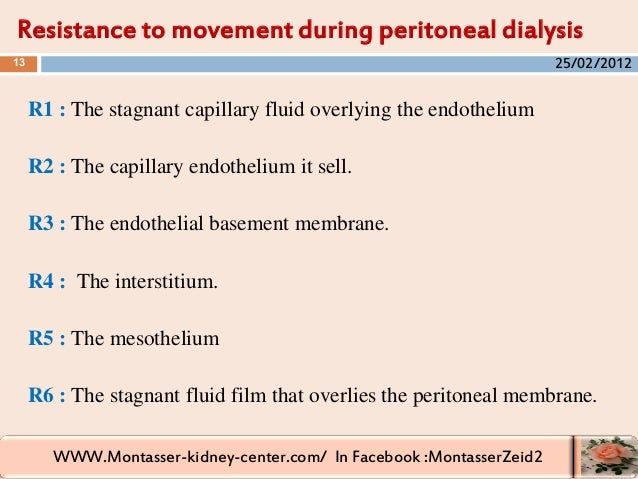 WWW.Montasser-kidney-center.com/ In Facebook :MontasserZeid2 R1 : The stagnant capillary fluid overlying the endothelium R...