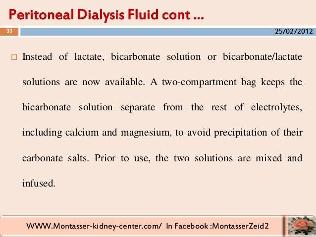 WWW.Montasser-kidney-center.com/ In Facebook :MontasserZeid2  Instead of lactate, bicarbonate solution or bicarbonate/lac...