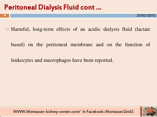 WWW.Montasser-kidney-center.com/ In Facebook :MontasserZeid2  Harmful, long-term effects of an acidic dialysis fluid (lac...