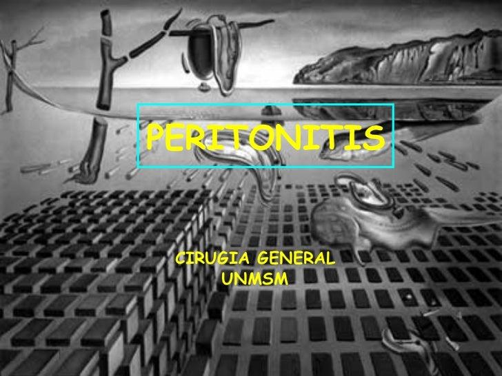 PERITONITIS CIRUGIA GENERAL UNMSM