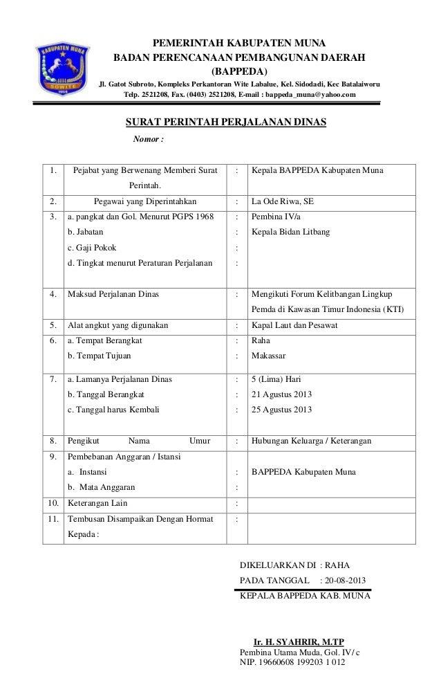 Perjalanan Dinas Kabupaten Muna