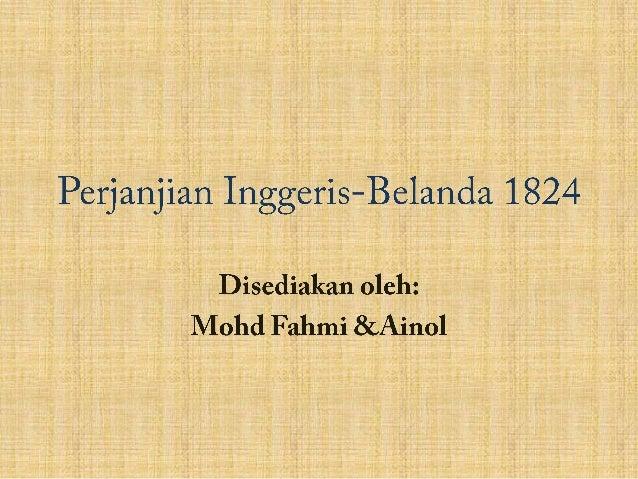 Perjanjian Inggeris Belanda 1824