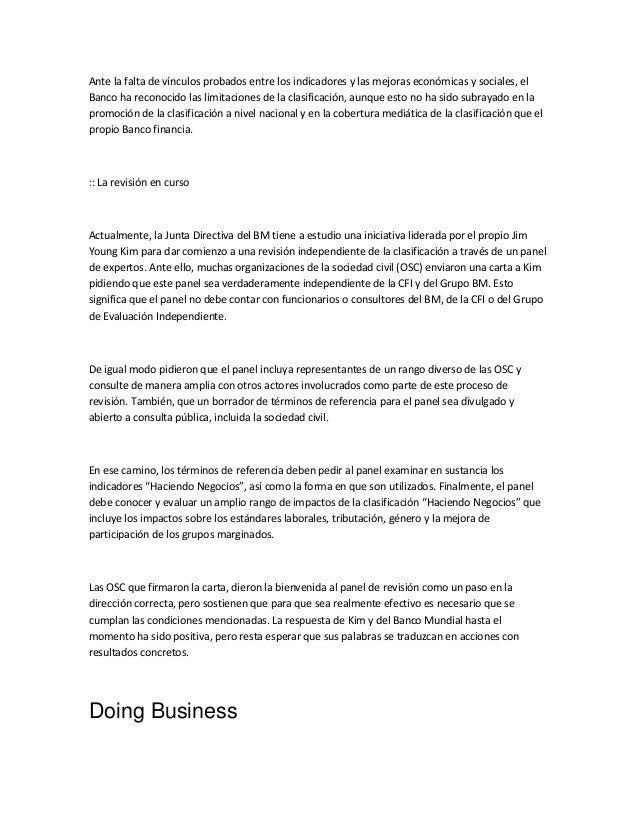 Perjuicios del doing business Slide 3