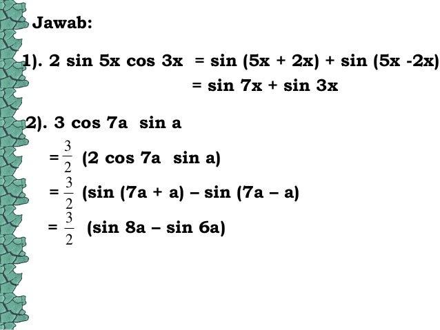 Perkalian Trigonometri