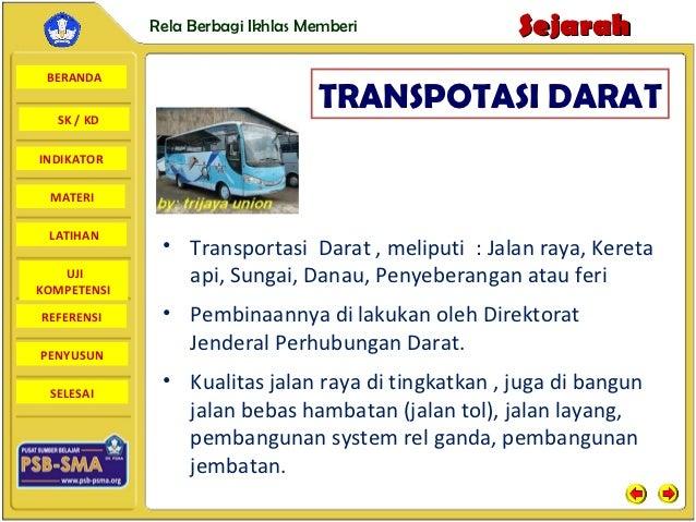 Rela Berbagi Ikhlas Memberi            Sejarah BERANDA  SK / KD                                  TRANSPOTASI DARATINDIKATO...
