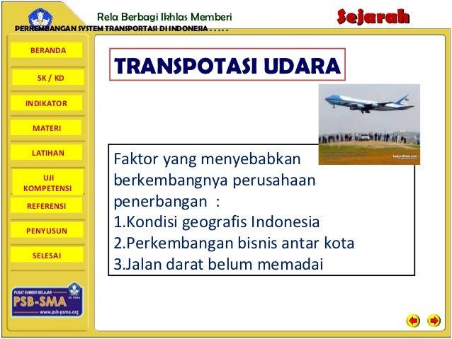 Rela Berbagi Ikhlas MemberiPERKEMBANGAN SYSTEM TRANSPORTASI DI INDONESIA . . . . .                                        ...