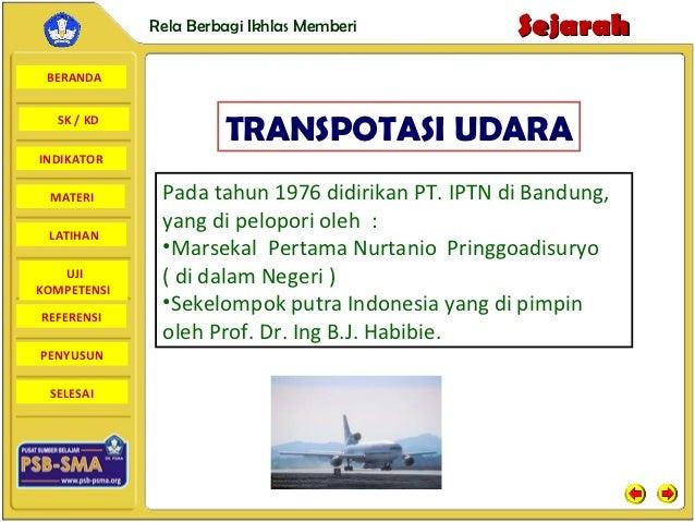 Rela Berbagi Ikhlas Memberi          Sejarah BERANDA  SK / KD                      TRANSPOTASI UDARAINDIKATOR MATERI      ...