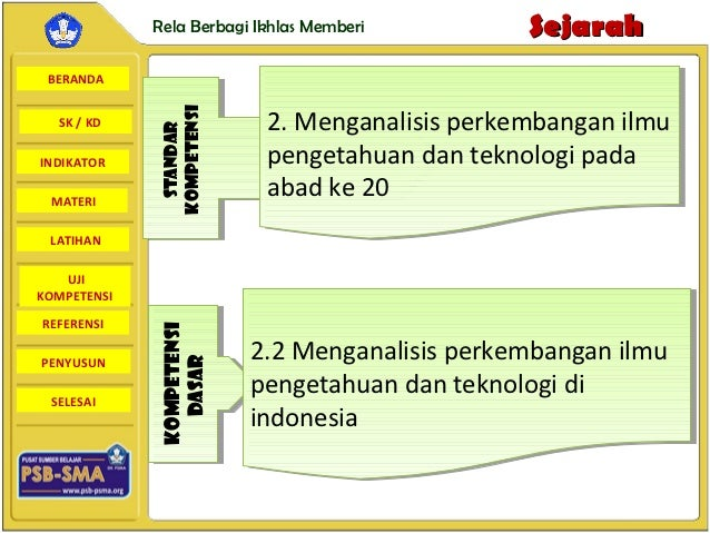 Rela Berbagi Ikhlas Memberi         Sejarah BERANDA                           2. Menganalisis perkembangan ilmu           ...