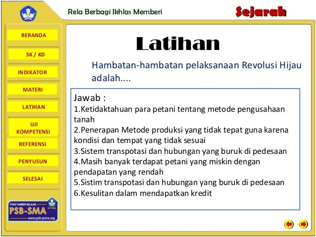 Rela Berbagi Ikhlas Memberi                Sejarah BERANDA  SK / KD                                Latihan                ...