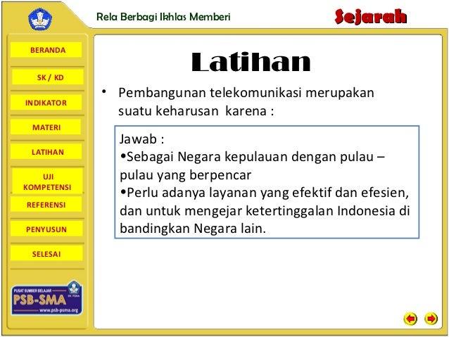 Rela Berbagi Ikhlas Memberi           Sejarah BERANDA  SK / KD                               Latihan             • Pembang...