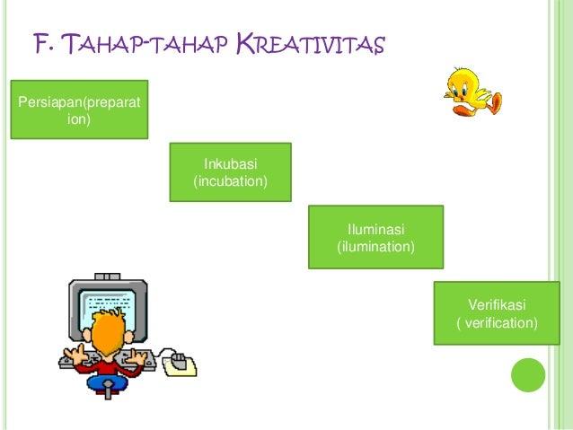 F. TAHAP-TAHAP KREATIVITASPersiapan(preparat       ion)                       Inkubasi                     (incubation)   ...