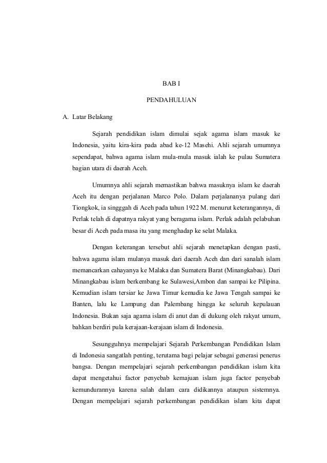 Perkembangan Pendidikan Islam Di Indonesia