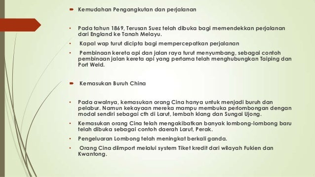 Perkembangan Perlombongan Di Tanah Melayu