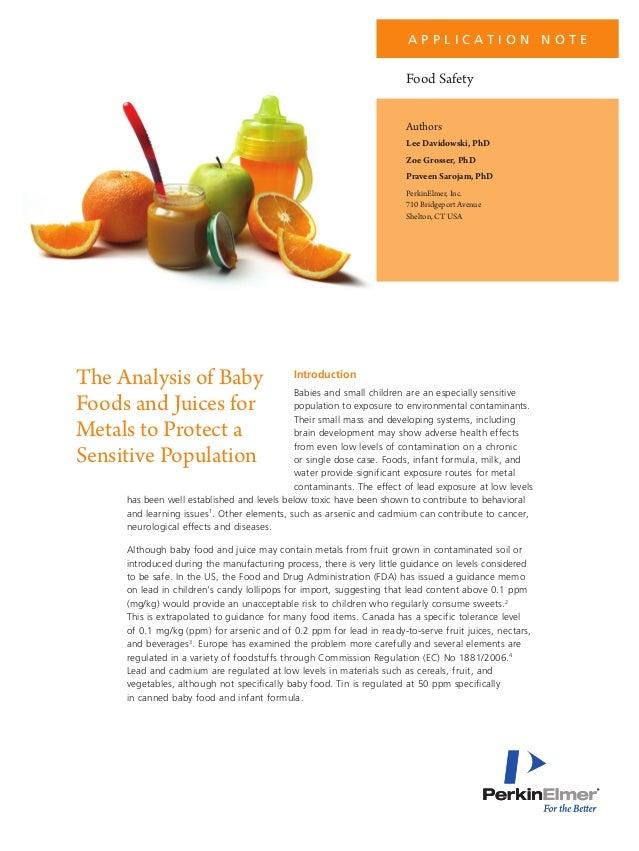 A P P L I C AT I O N N O T E  Food Safety Authors Lee Davidowski, PhD Zoe Grosser, PhD Praveen Sarojam, PhD PerkinElmer, I...