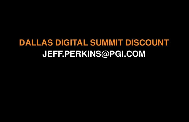 Video Is Not An Option - Presentation by Jeff Perkins at the Digital Summit - Updated 12.9.14