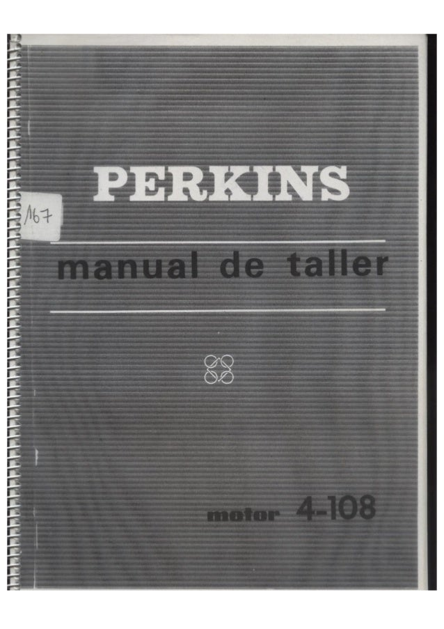 Perkins 4.107 y 4.99 manual de datos de taller de Motor-copia