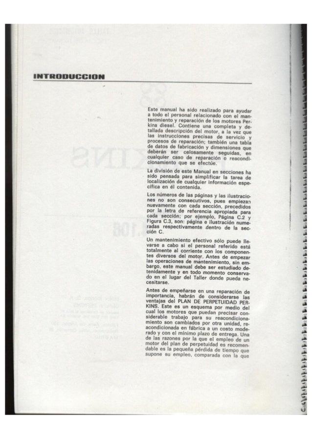 Perkins, Manual de Taller, Motor 4-108 Slide 3