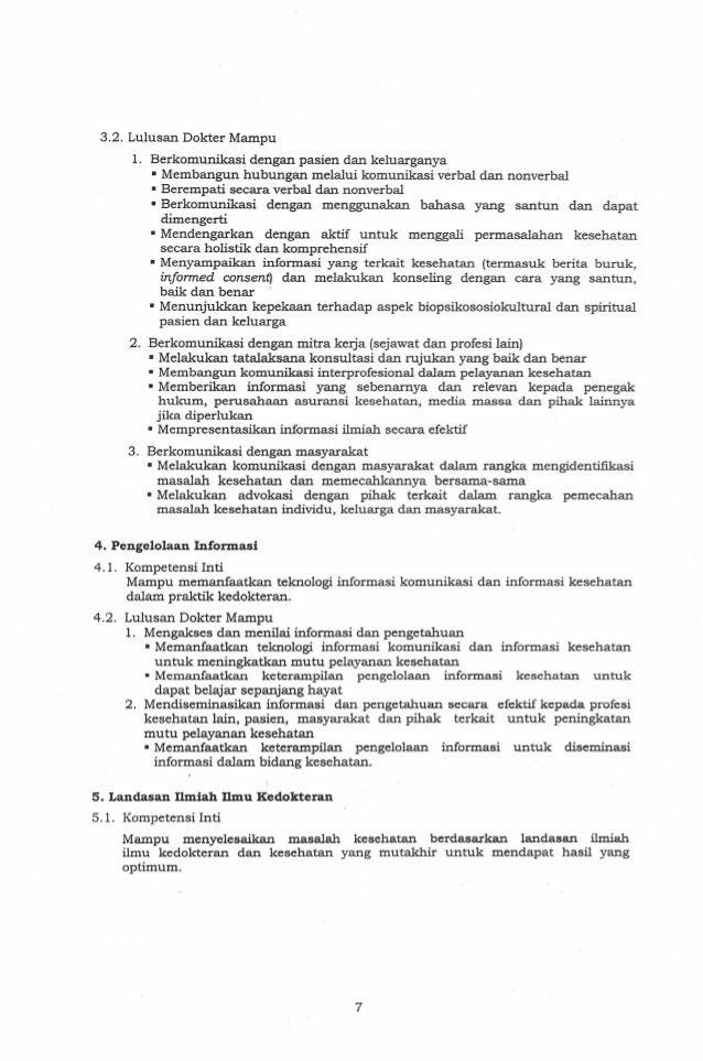 Standar Kompetensi Dokter Indonesia 2012 Pdf