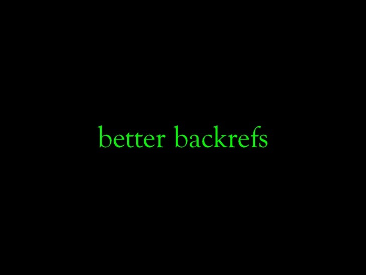 better backrefs