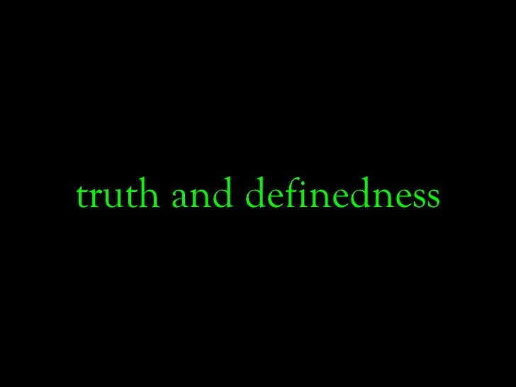 truth and definedness