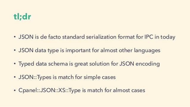 Perl5 VS JSON