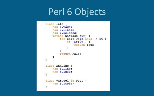 Perl6Objects Roles