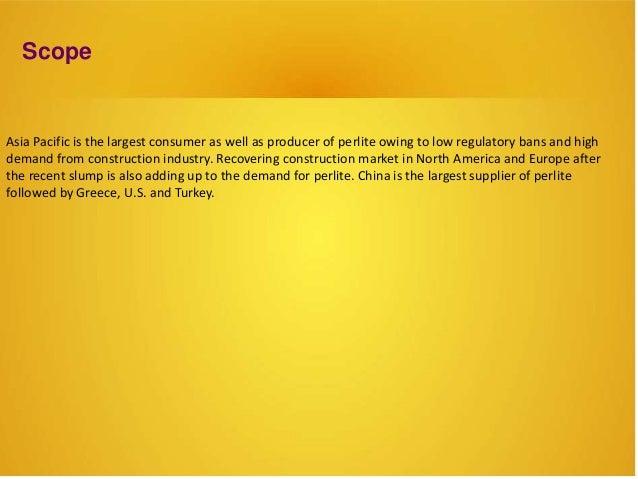 Worldwide  Perlite Market report, Size, Share,statistics and Growth 2015-2020 Slide 3