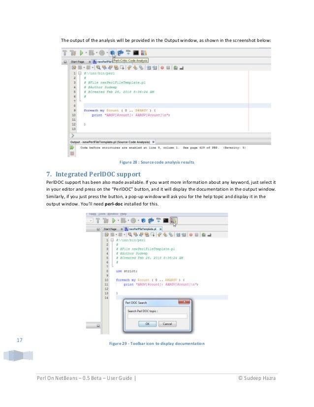 Perl on Netbeans - User Guide - v0 5