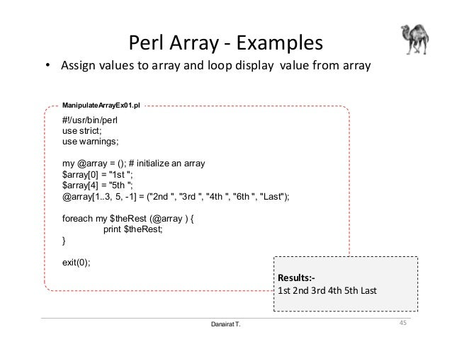 Perl examples for windows.