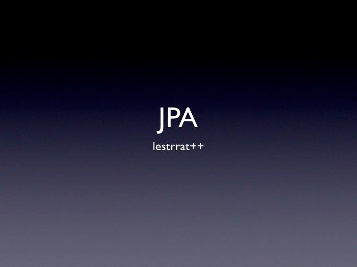 JPA lestrrat++