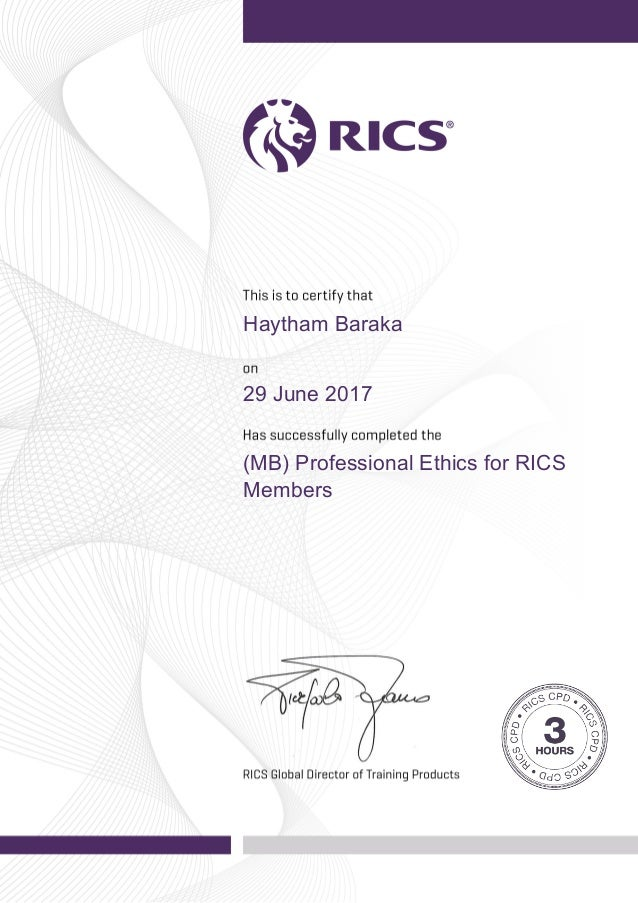 Perm Mb Professional Ethics Cpd Certificate