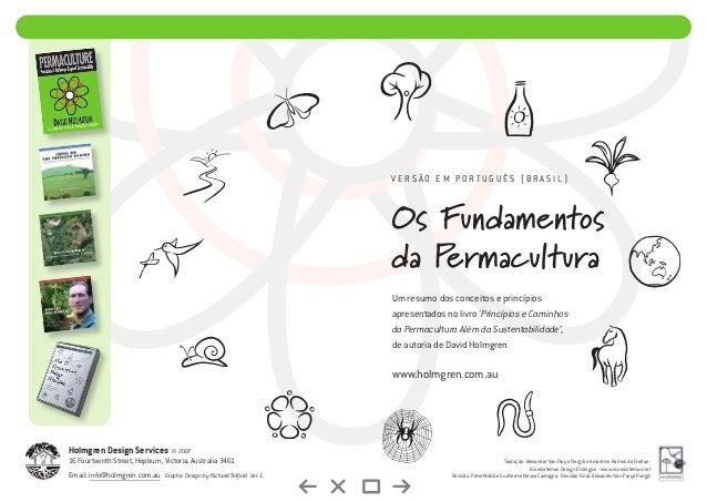 Os Fundamentos da Permacultura Um resumo dos conceitos e princípios apresentados no livro 'Princípios e Caminhos da Permac...