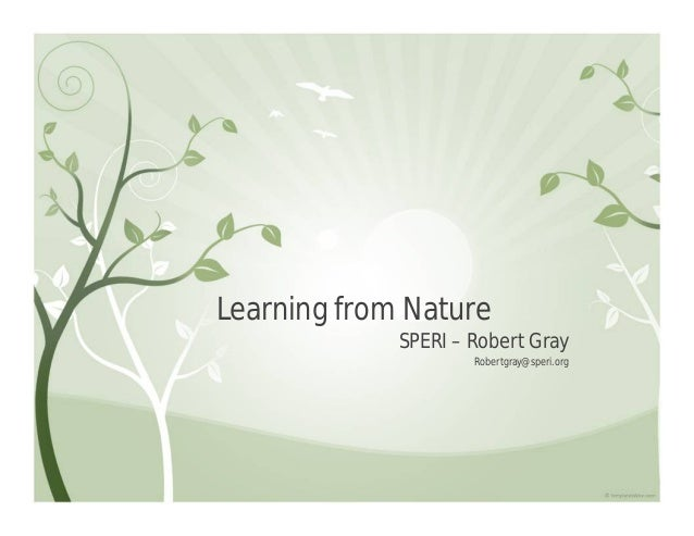 Learning from Nature             SPERI – Robert Gray                     Robertgray@speri.org