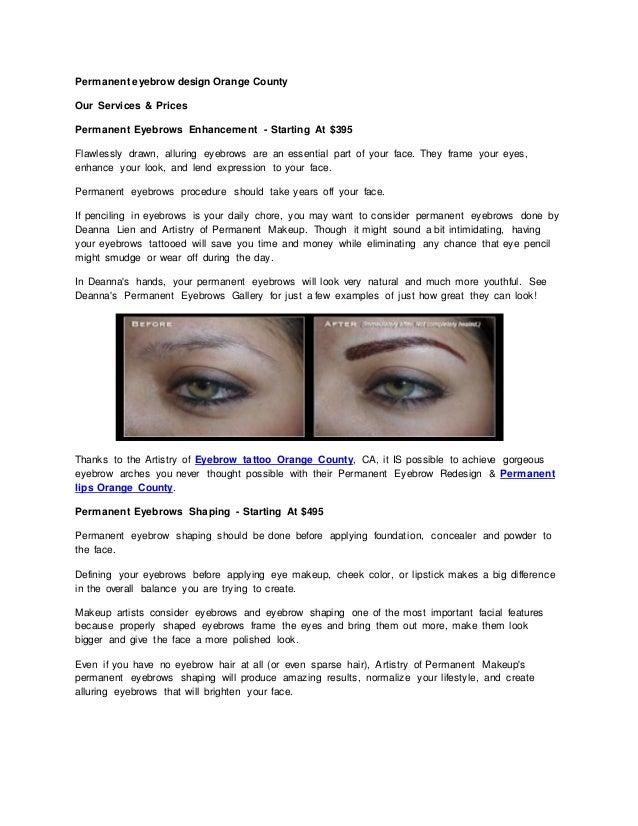 Permanent Eyebrow Design Orange County