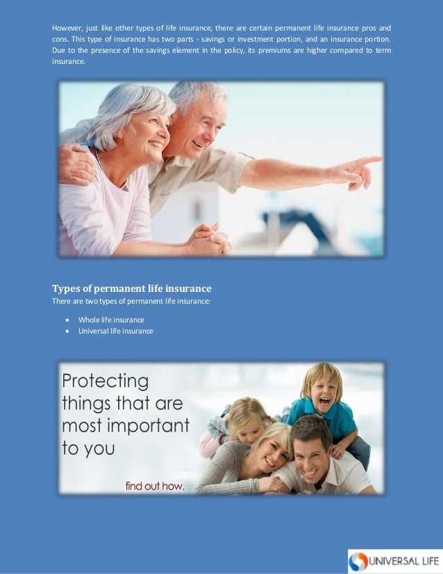 Permanent Life Insurance: Pros and Cons