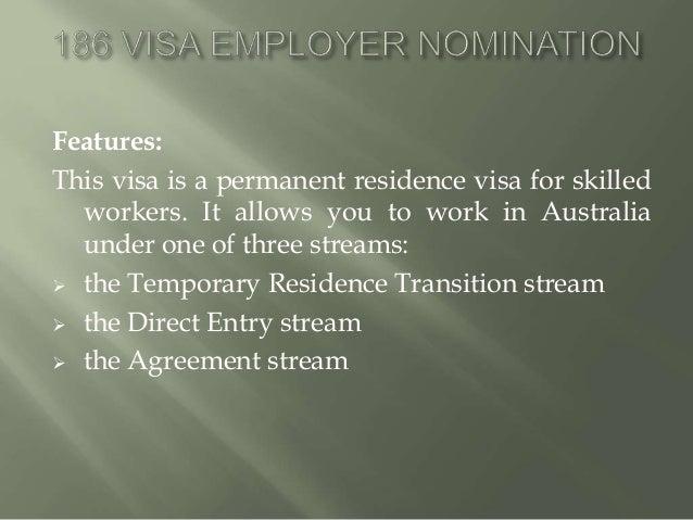 Permanent Residence Visa Australia 186