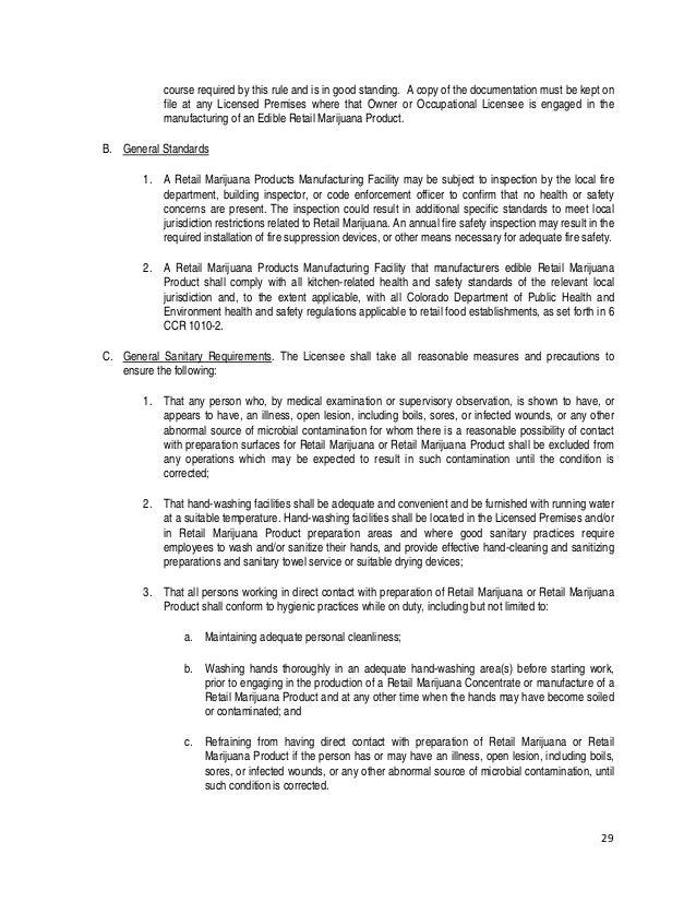 Colorado Mmip Permanent Retail Marijuana Rules Adopted January 10