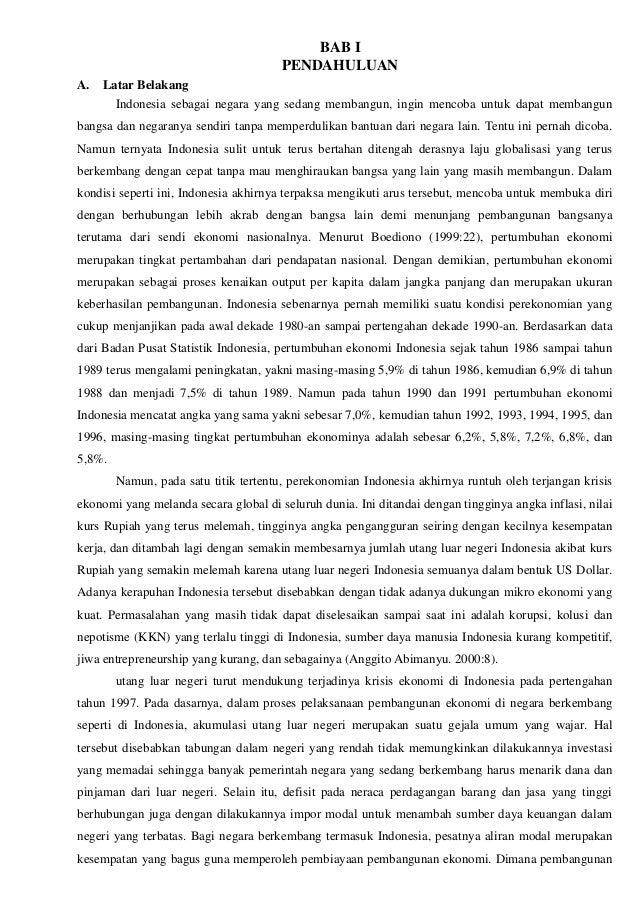 Makalah Permasalahan Utang Luar Negeri Indonesia